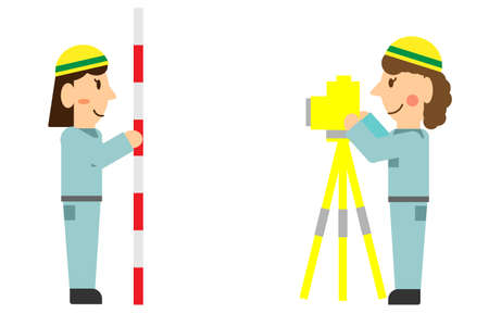 a person working on surveying