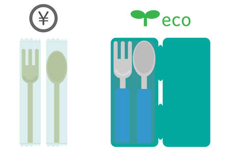 Plastic Paid Spoon Fork and My Spoon My Fork Eco