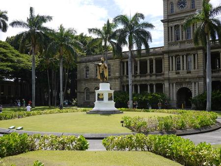 King Kamehameha Statue, Oahu Stok Fotoğraf