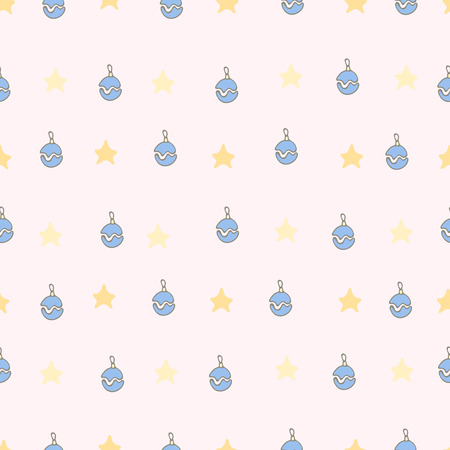 x mas background: Cute pattern of Christmas toys