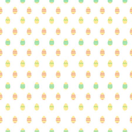 warm colors: Modelo lindo inconsútil en colores cálidos, con decoración de huevos de Pascua. Vectores