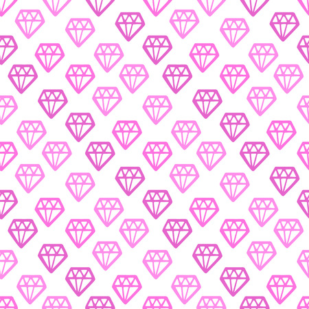 Seamless pattern with a crystal on a white background. Illustration