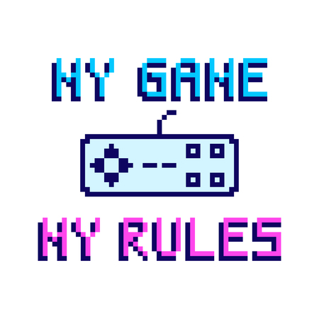 My game my rules. The inscription with joystick from the console.