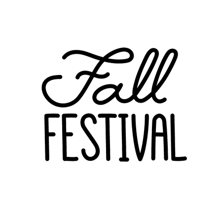 Inscription Fall Festival, vector Image. It can be used for a site, article, invitation cards, brochures, poster, t-shirts, mugs etc.