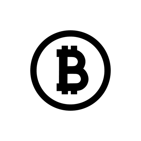 bitcoins icon on white background