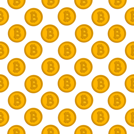 bitcoin pattern on white background
