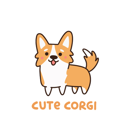 Cute dog breed welsh corgi. It can be used for sticker, patch, phone case, poster, t-shirt, mug and other design.