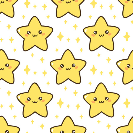 Seamless pattern with cute star. It can be used for packaging, wrapping paper, textile and etc. Ilustrace