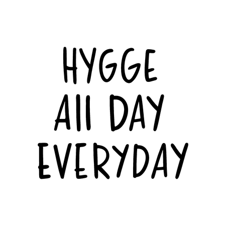 Scandinavian phrase: Hygiene all day everyday, on a white background.