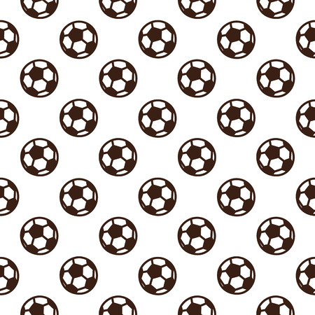 Football seamless pattern with soccer ball on a white background. It can be used for packaging, wrapping paper, textile and etc.
