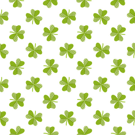 Seamless pattern with clover on a white background, for St. Patrick's Day. Excellent design for packaging, wrapping paper, textile, clothes and etc. Banque d'images - 124665806