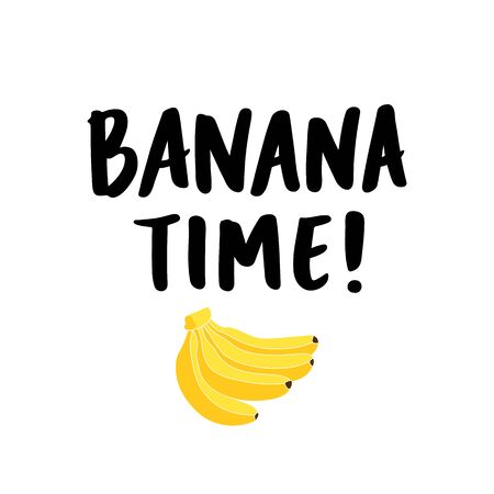 Banana bunch and inscription: Thats bananas, hand-drawing of ink on a white background. It can be used for card, mug, brochures, poster, t-shirts, etc.  Ilustrace