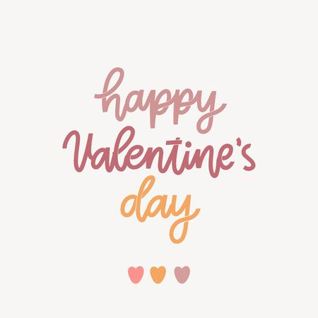 Lettering inscription: Happy Valentines Day! It can be used for card, mug, brochures, poster, t-shirts, phone case etc.