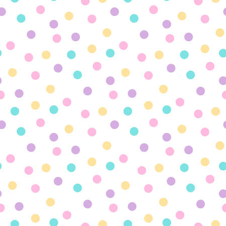 Simless pattern with festive colorful confetti. It can be used for packaging, wrapping paper, decor etc. Vector illustration on a white background.