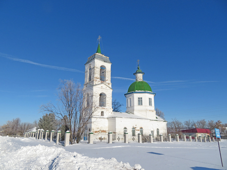 The Church of the Resurrection of Christ was built in 1798, located at the entrance to the village, at the highest place