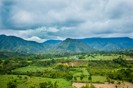 beautiful landscape of the countryside and mountain of colombia Stock fotó