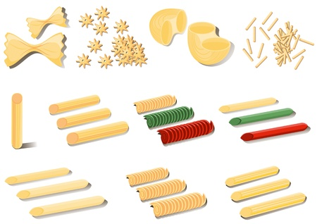 macaroni: Different types of paste and macaroni.