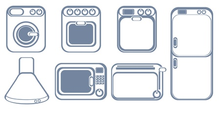 household appliances: Set of icons of household appliances. Illustration