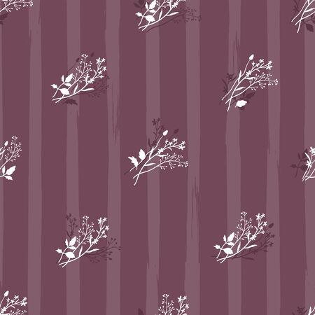 Cute ditsy floral seamless pattern, hand drawn lovely flowers, great for textiles, wrapping, banners, wallpapers - vector surface design Ilustracja