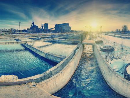 paesaggio industriale: Immagine d'epoca. Paesaggio industriale con la miniera