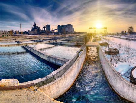 industrial landscape: Industrial landscape with the mine Archivio Fotografico