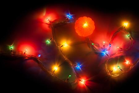 mandarine: Christmas light with luminous mandarine