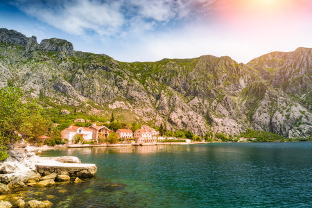 Village Kotor on a coast of Montenegro, Europe.