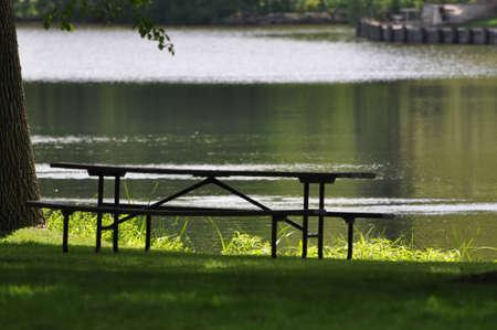 A picnic on the lake.