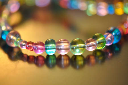 Colored beads.