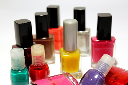 Group of colored nail polishes Zdjęcie Seryjne