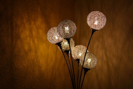 Design floor lamp lighting up stock photo picture and royalty