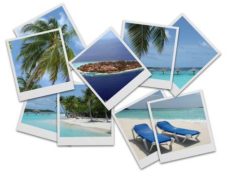 Maldives photo collage  Standard-Bild