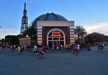 Orlando, Florida; August 21, 2018 Planet Hollywood in Lake Buena Vista. Editorial