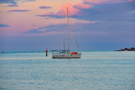 St. Augustine, Florida. January 26, 2019. Sailboat on beautiful sunset background in Floridas Historic Coast (4)