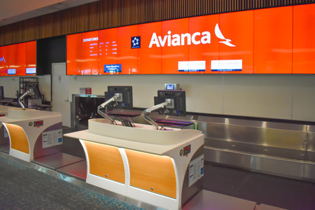 Orlando, Florida. March 01, 2019. Partial view of Avianca Airlines counter at Orlando International Airport. Editorial