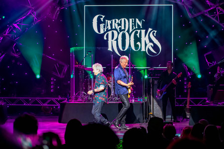 Orlando, Florida. March 26, 2019. Graham Rusell and Russell Hitchcock from air supply, singing beautiful melody at Epcot in Walt Disney World (4) Editorial