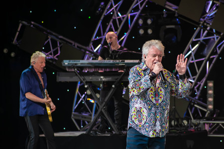 Orlando, Florida. March 26, 2019. Graham Rusell and Russell Hitchcock from air supply, singing beautiful melody at Epcot in Walt Disney World (6)