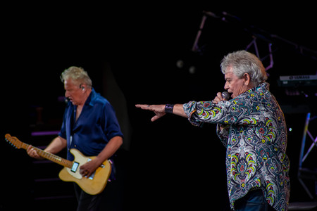 Orlando, Florida. March 26, 2019. Graham Rusell and Russell Hitchcock from air supply, singing beautiful melody at Epcot in Walt Disney World (7)