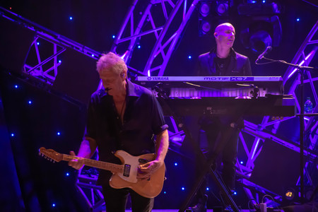 Orlando, Florida. March 26, 2019. Graham Russell from air supply, singing beautiful melody at Epcot in Walt Disney World (1) Editorial