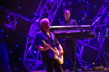 Orlando, Florida. March 26, 2019. Graham Russell from air supply, singing beautiful melody at Epcot in Walt Disney World (2)