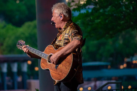 Orlando, Florida. March 26, 2019. Graham Russell from air supply, singing beautiful melody at Epcot in Walt Disney World.