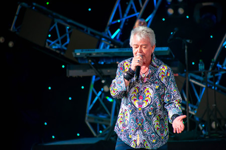 Orlando, Florida. March 26, 2019. Russell Hitchcock from air supply, singing beautiful melody at Epcot in Walt Disney World (7)