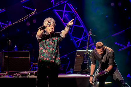 Orlando, Florida. March 26, 2019. Russell Hitchcock from air supply, singing beautiful melody at Epcot in Walt Disney World (13) Editorial