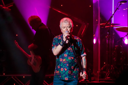 Orlando, Florida. March 26, 2019. Russell Hitchcock from air supply, singing beautiful melody at Epcot in Walt Disney World (22)