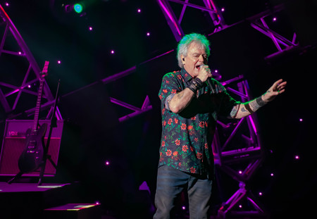 Orlando, Florida. March 26, 2019. Russell Hitchcock from Air Supply, singing beautiful melody at Epcot in Walt Disney World (25)