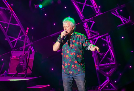 Orlando, Florida. March 26, 2019. Russell Hitchcock from Air Supply, singing beautiful melody at Epcot in Walt Disney World (26)