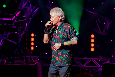 Orlando, Florida. March 26, 2019. Russell Hitchcock from Air Supply, singing beautiful melody at Epcot in Walt Disney World (30) Editorial