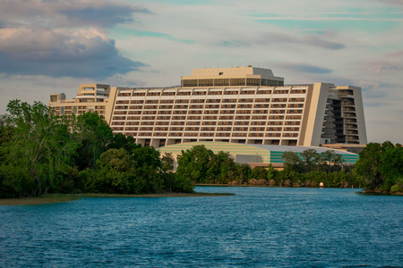 Orlando, Florida. April 02, 2019. Disney Contemporary Resort and Blu Lake at Walt Disney World (3)