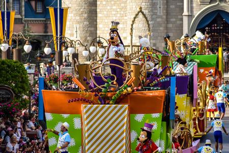 Orlando, Florida. April 02, 2019. Goofy in Mickey and Minnies Surprise Celebration at Walt Disney World (1)