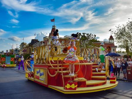 Orlando, Florida. April 02, 2019. Mickey and Minnies Surprise Celebration parade at Walt Disney World.